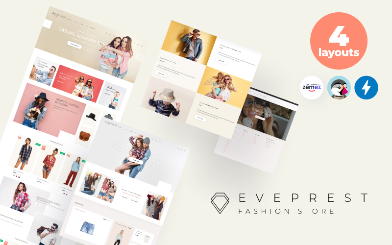 Responsivt Eveprest Fashion 1.7 - Fashion Store PrestaShop-tema #69941