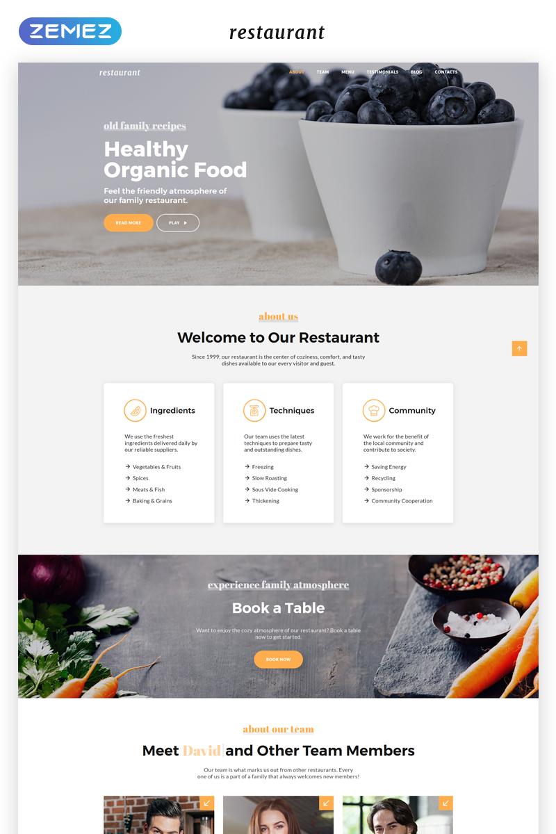 Responsivt Restaurant - Cafe & Restaurant Services HTML5 Landing Page-mall #69947
