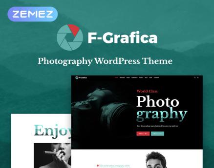 F-Grafica - Photography Elementor WordPress Theme