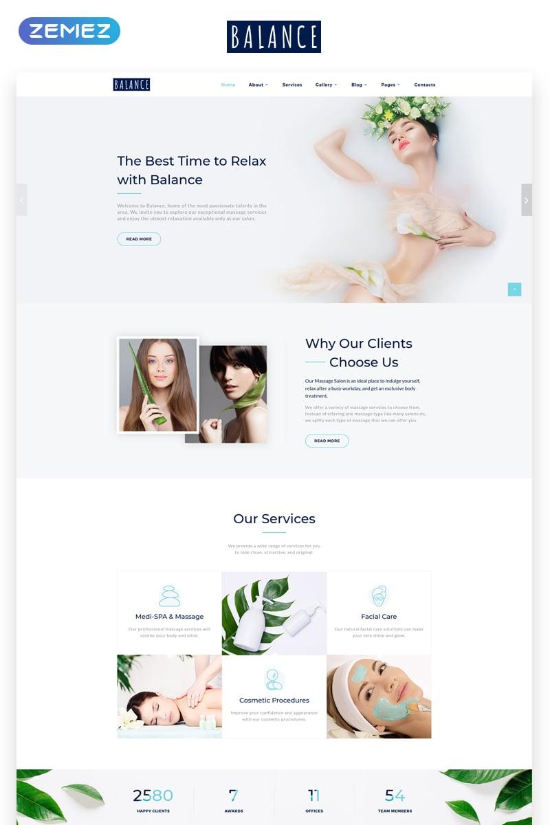 Website Design Template 70019 - body manicure spa salon massage company business clinic services healthcare consulting multipurpose design portfolio fashion professinal