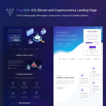 Preview image of CryptICO - Bitcoin, ICO and Cryptocurrency Landing Page