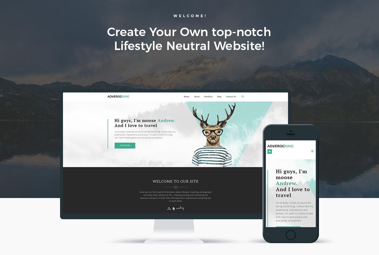 Image result for Adverocking - Lifestyle Neutral Elementor WordPress Theme