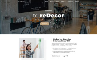 reDecor - House Renovation HTML5 Landing Page Template
