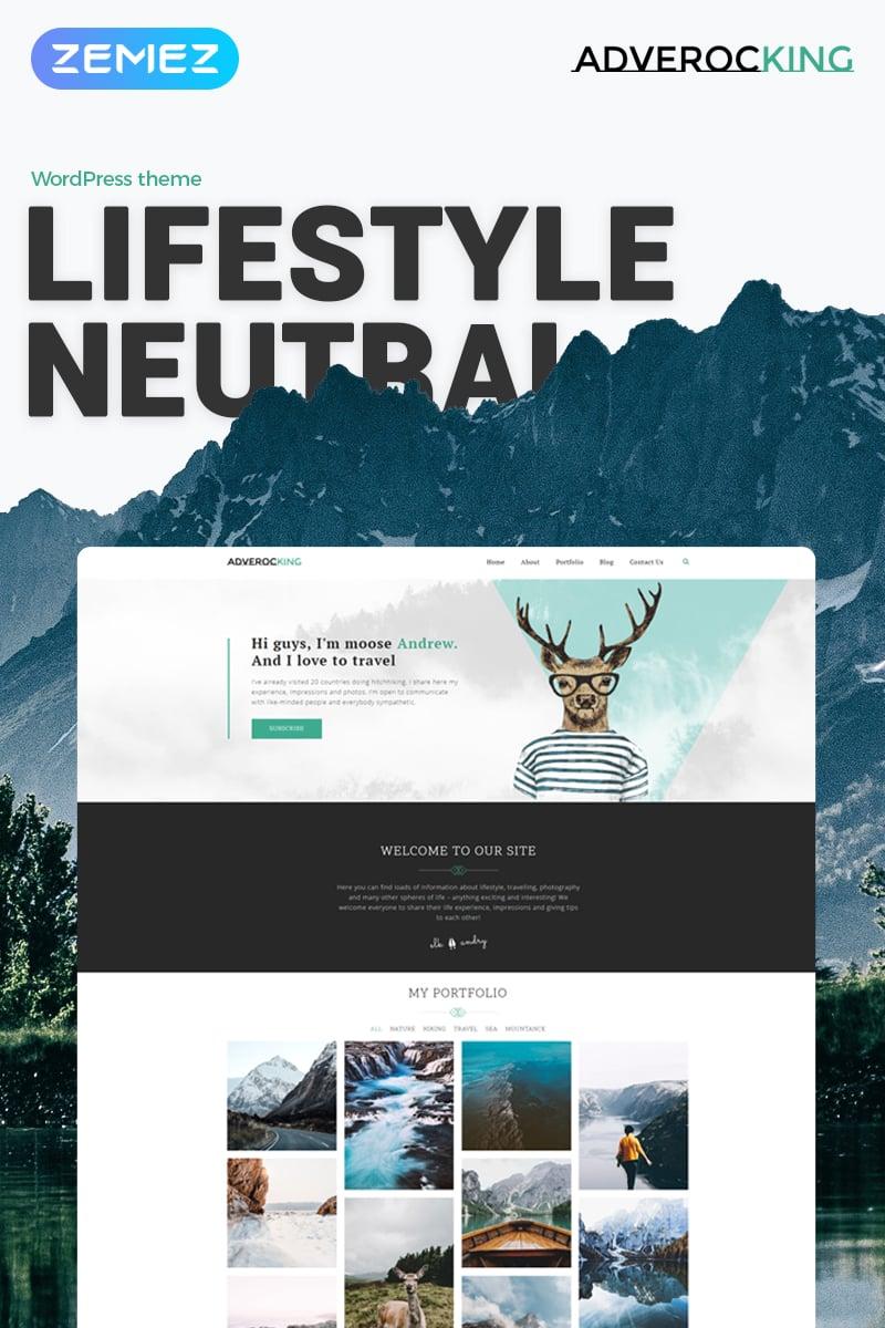 Adverocking - Lifestyle Neutral Elementor Tema WordPress №70063