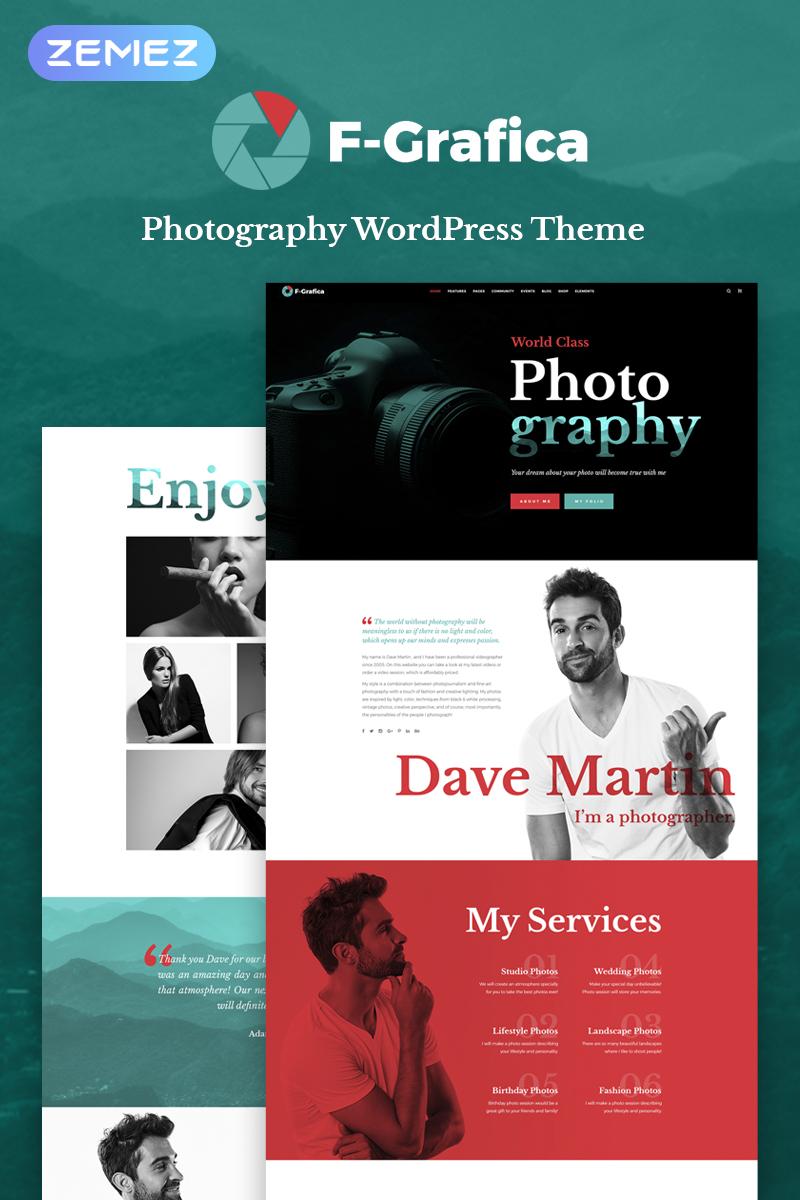 """F-Grafica - Photography Elementor"" - адаптивний WordPress шаблон №70012"