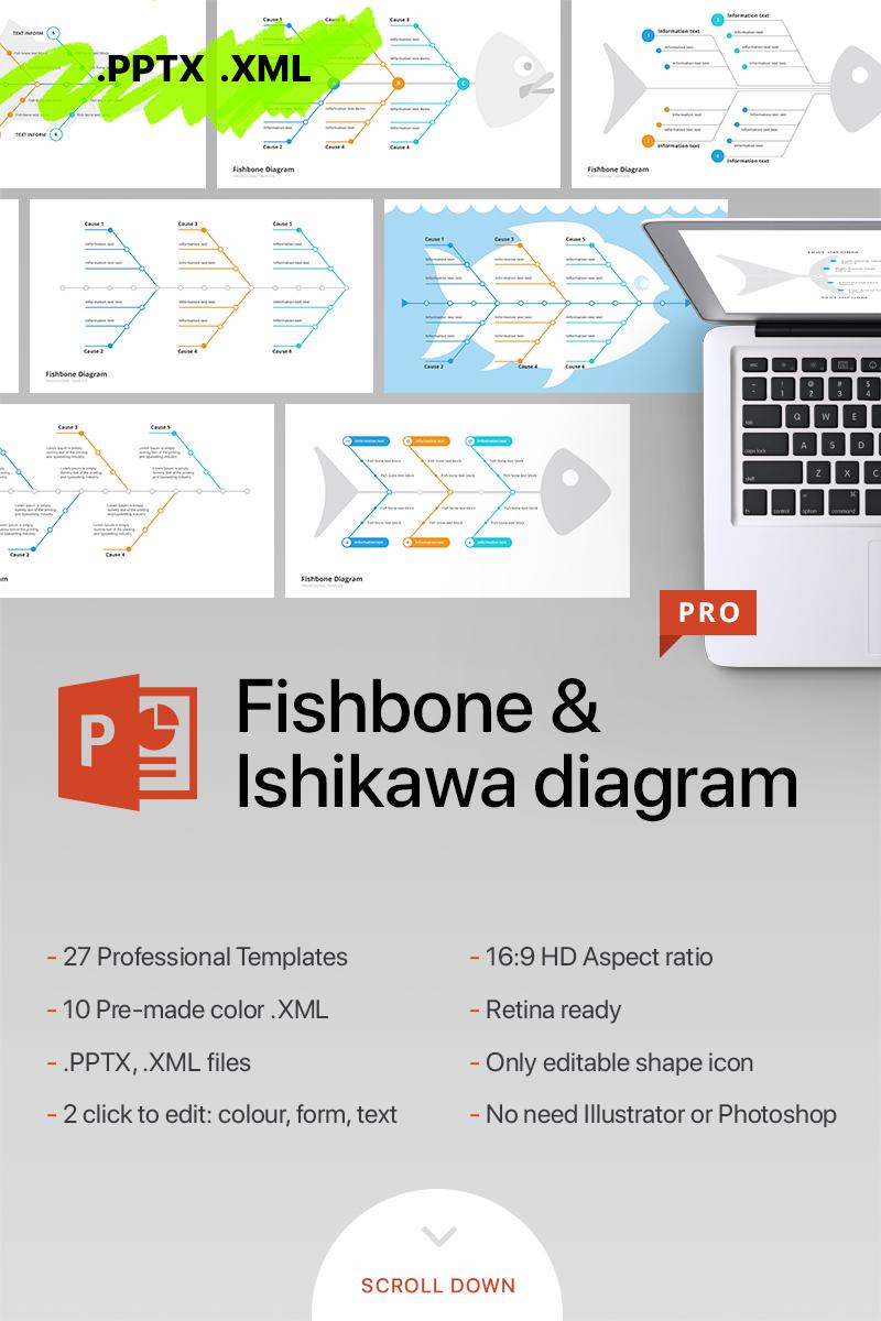 Fishbone Ishikawa Diagram Template PowerPoint No70097