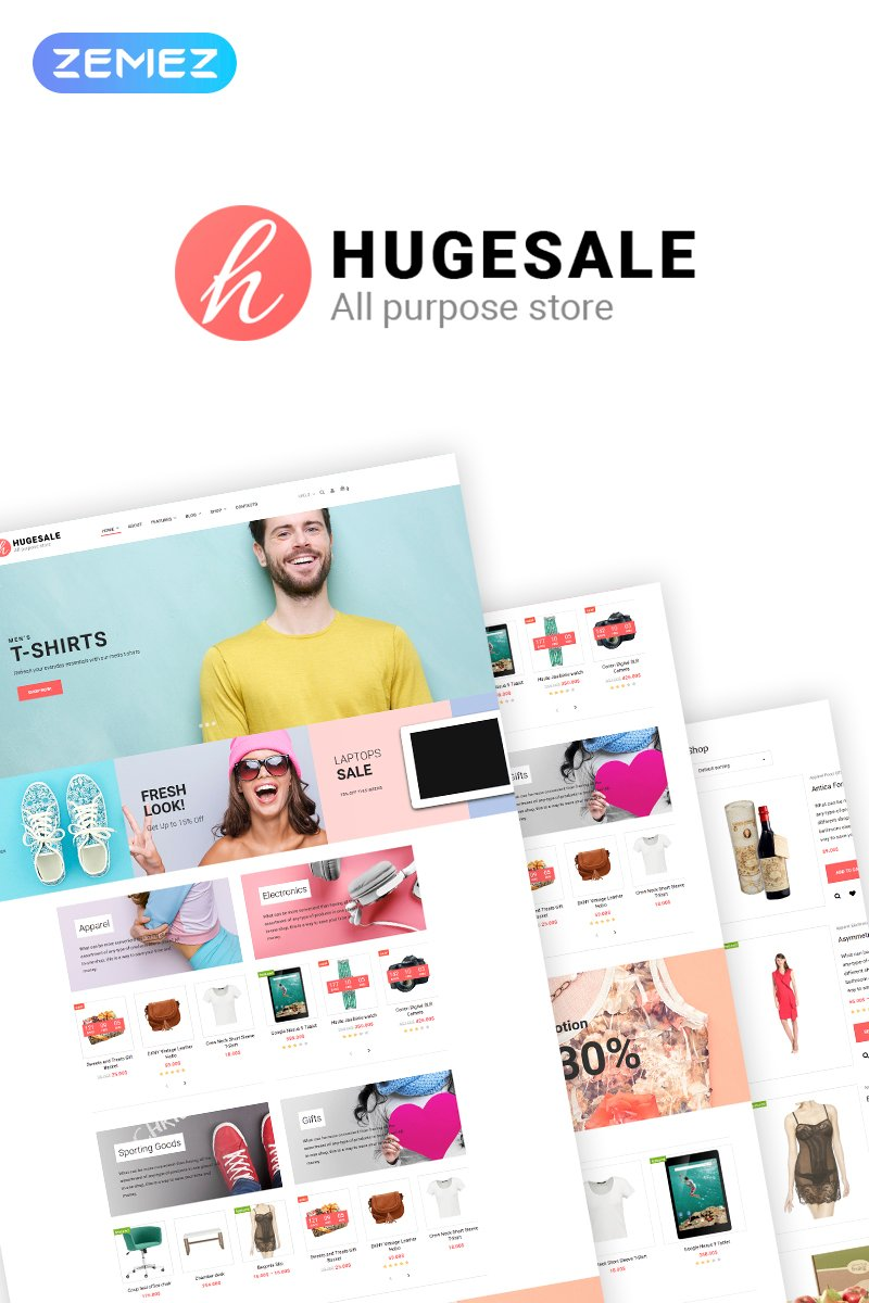 Hugesale - Multipurpose Store Elementor WooCommerce Theme - screenshot