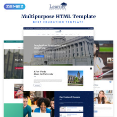 Academic Education Website Templates - Template Monster