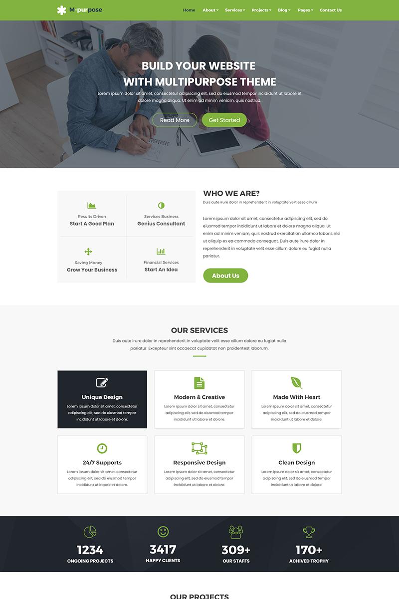 M-purpose - Creative Multipurpose PSD Template