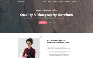 MomiStudio - Videography Services HTML5 Landing Page Template