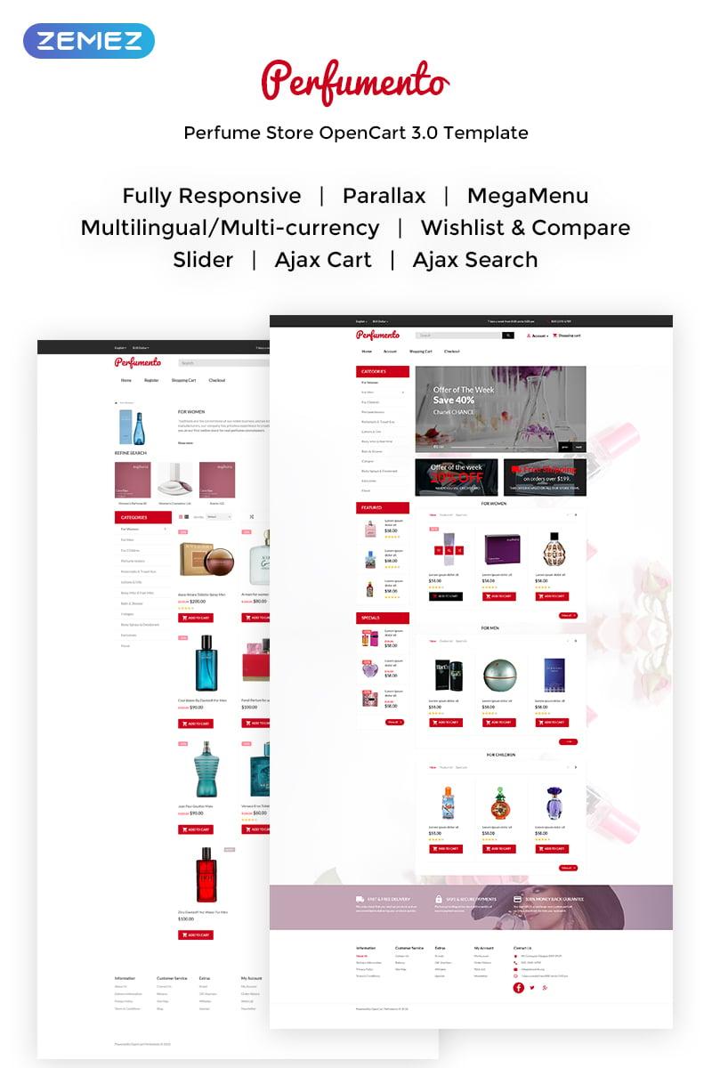 """Perfumento - Perfume Store"" - адаптивний OpenCart шаблон №70056"