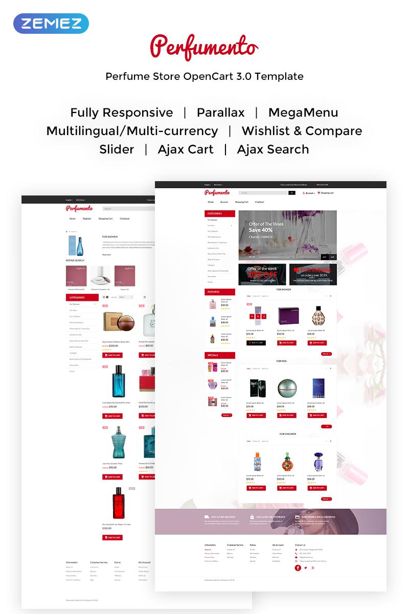 Perfumento - Perfume Store OpenCart Template