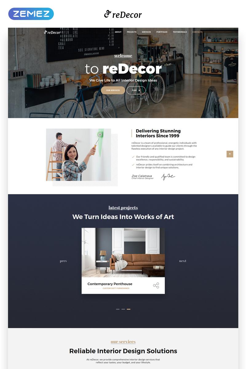 reDecor - House Renovation HTML5 №70095
