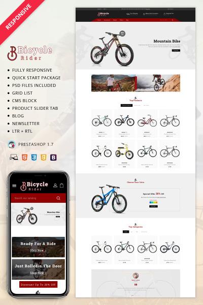 Responsive Tema De PrestaShop #70028 para Sitio de  para Tienda de Motos