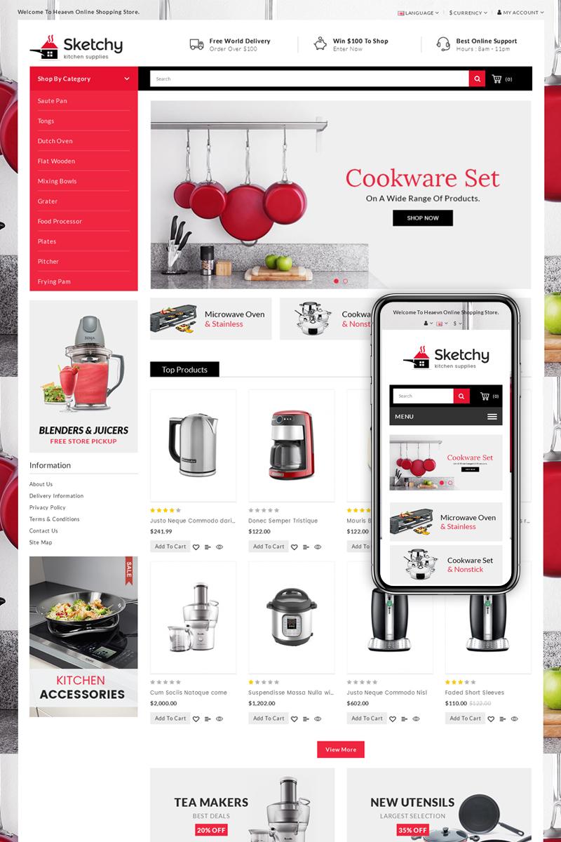 """Template OpenCart Responsive #70003 """"Sketchy - Multipurpose"""" - screenshot"""