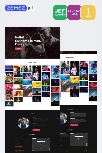 Website Template #70167 Photography Photographer Custom