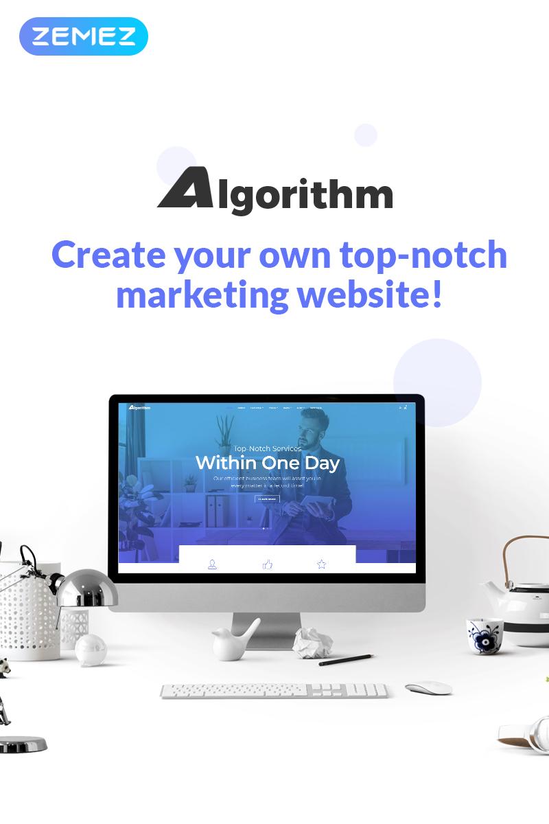 Algorithm - Business Marketing Elementor Tema WordPress №70111