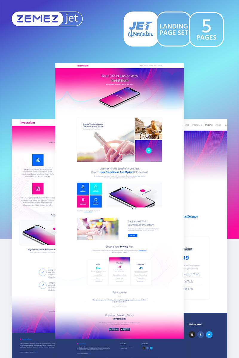 AppRove - Corporate App Jet Elementor Template #70183 - skärmbild