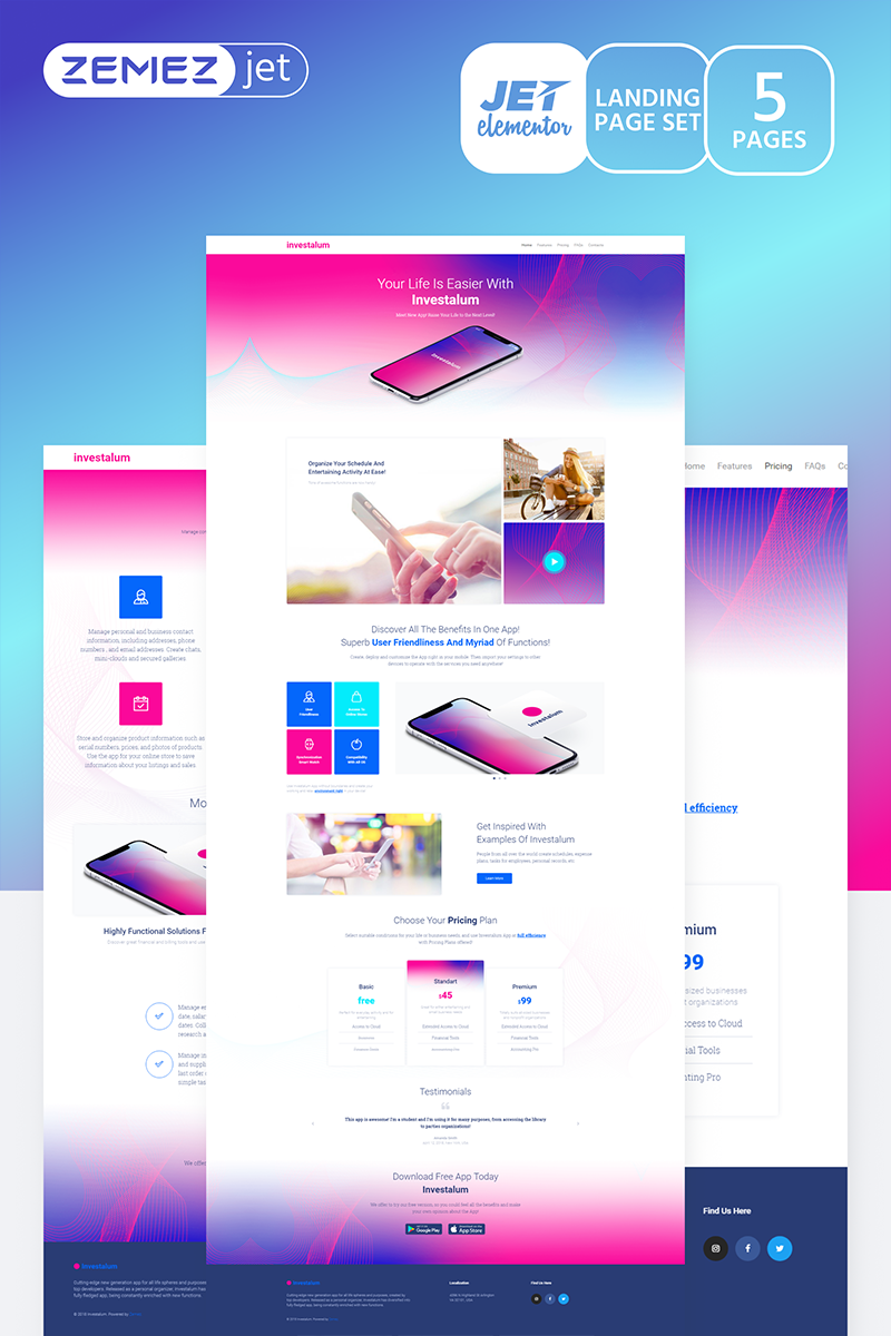 """AppRove - Corporate App Jet"" modèle Elementor  #70183 - screenshot"