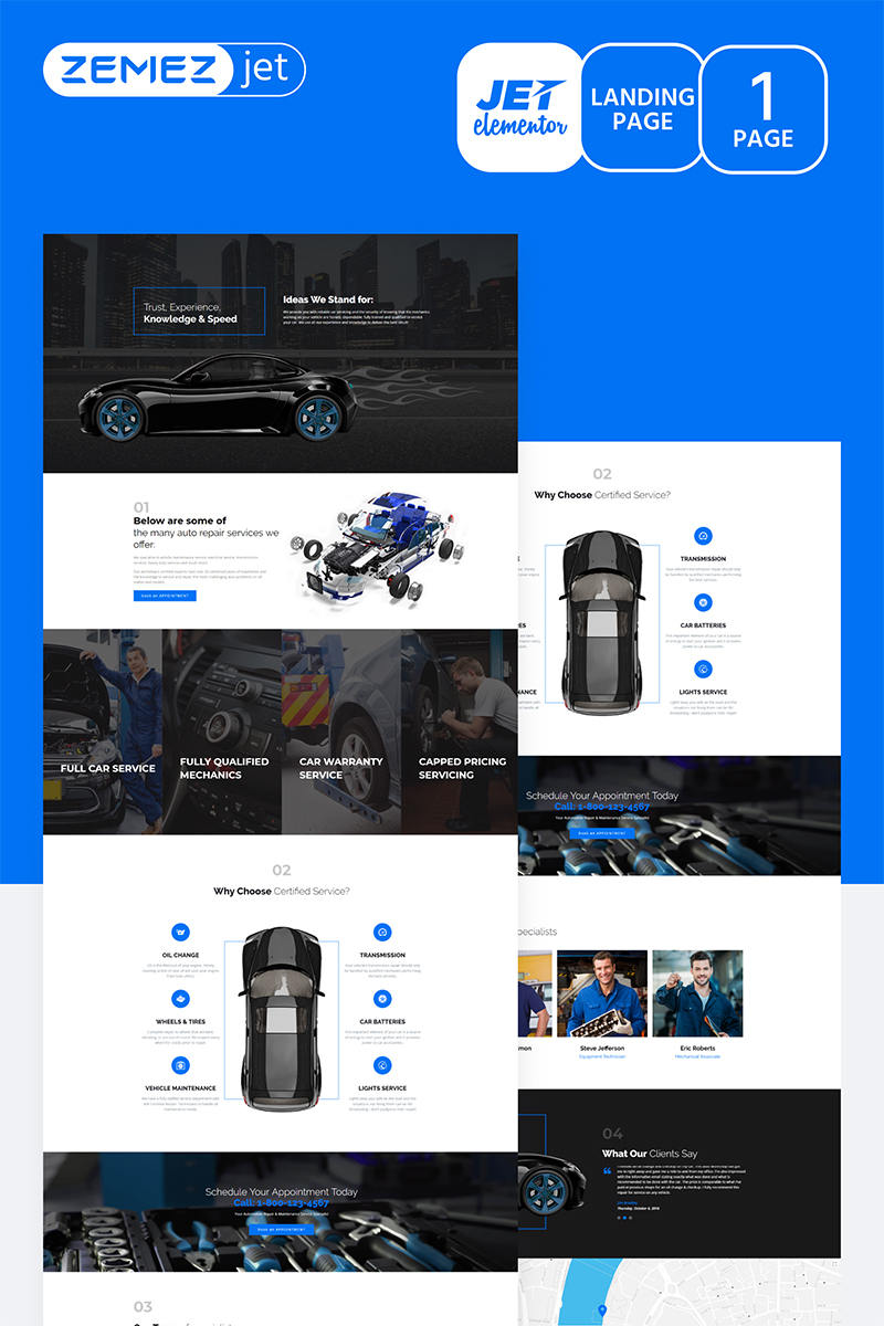 Autoluxe - Car Tuning Jet Elementor Template