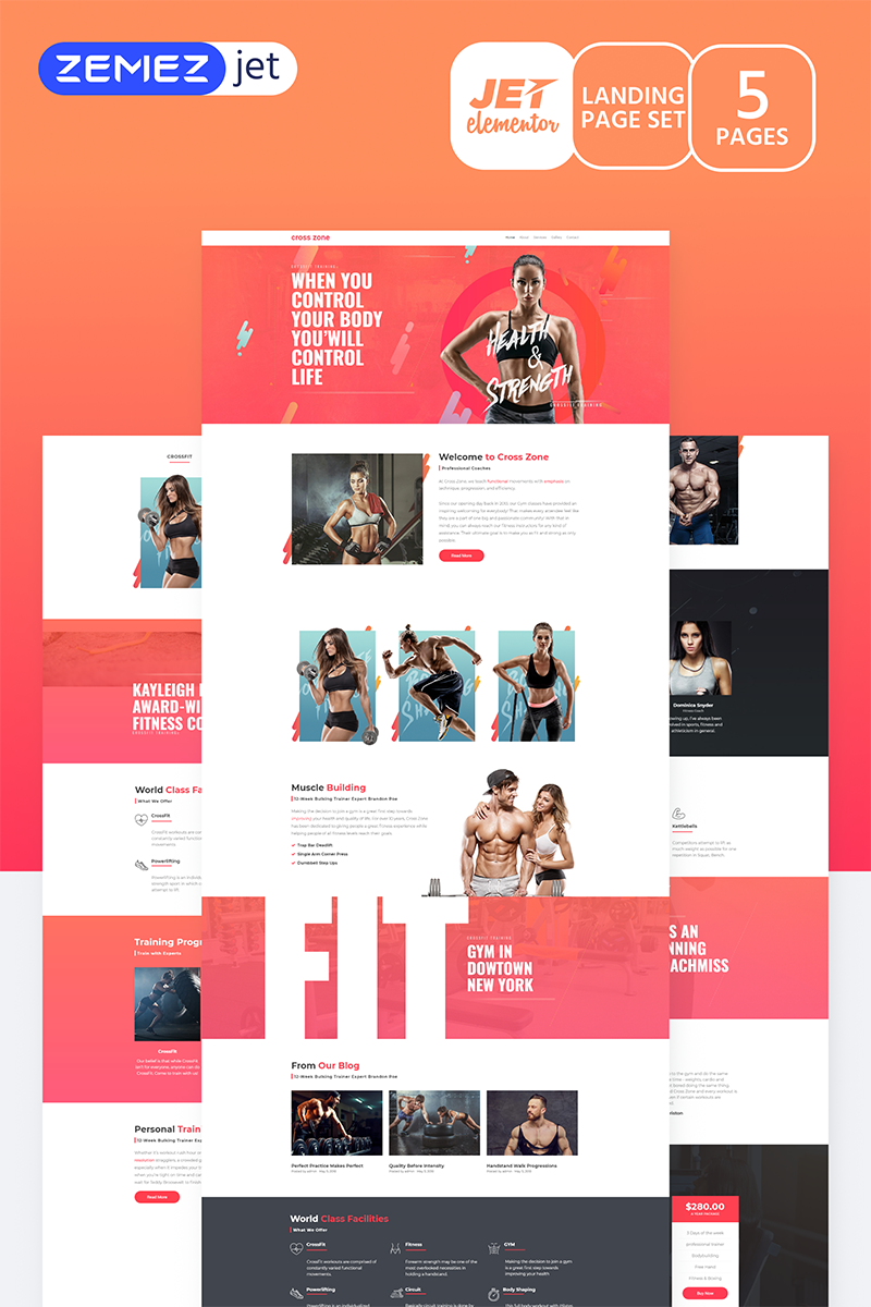 Champio - Crossfit Studio Jet Elementor Template - screenshot