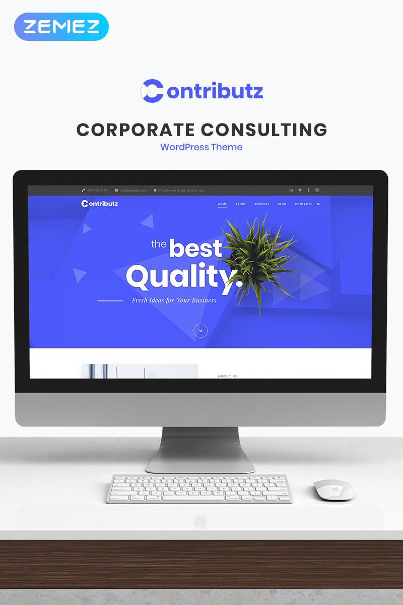 """Contributz - Corporate Consulting Elementor"" Responsive WordPress thema №70126"