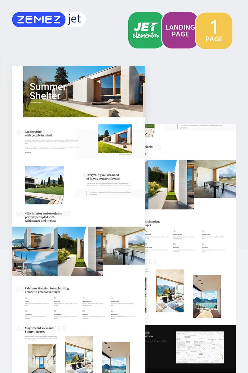 Cottager - Luxury Real Estate Jet Elementor Template