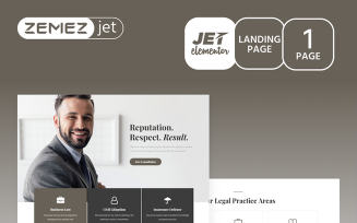 Juristos - Lawyer Jet Elementor Template