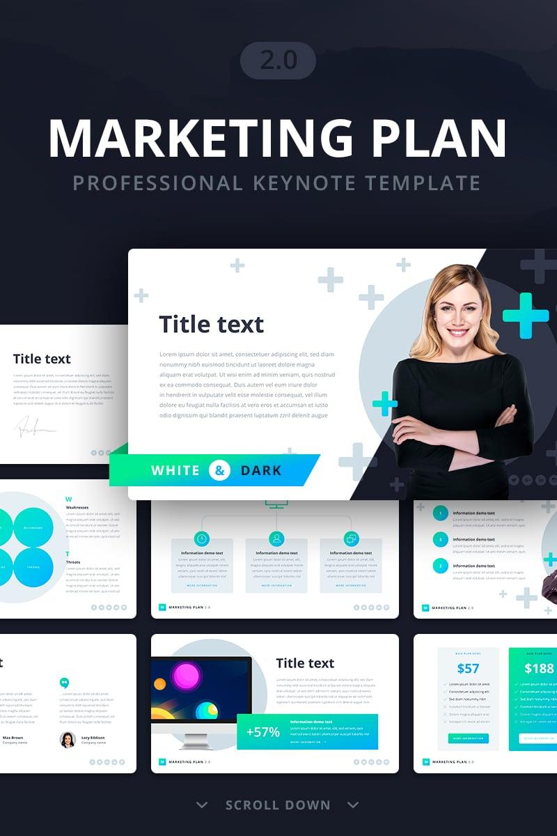 "Plantilla Keynote ""Marketing Plan 2.0"" #70110 - captura de pantalla"