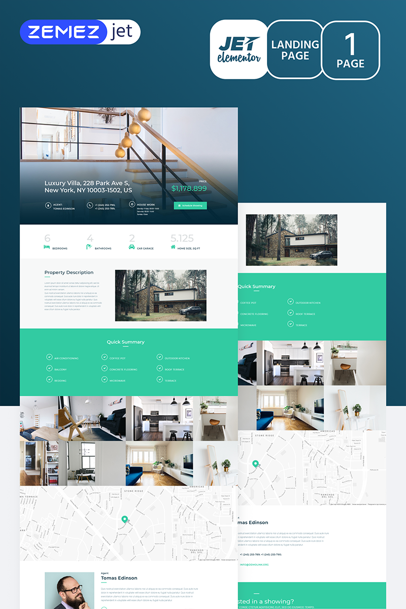 Realcity - Real Estate Jet Elementor Template
