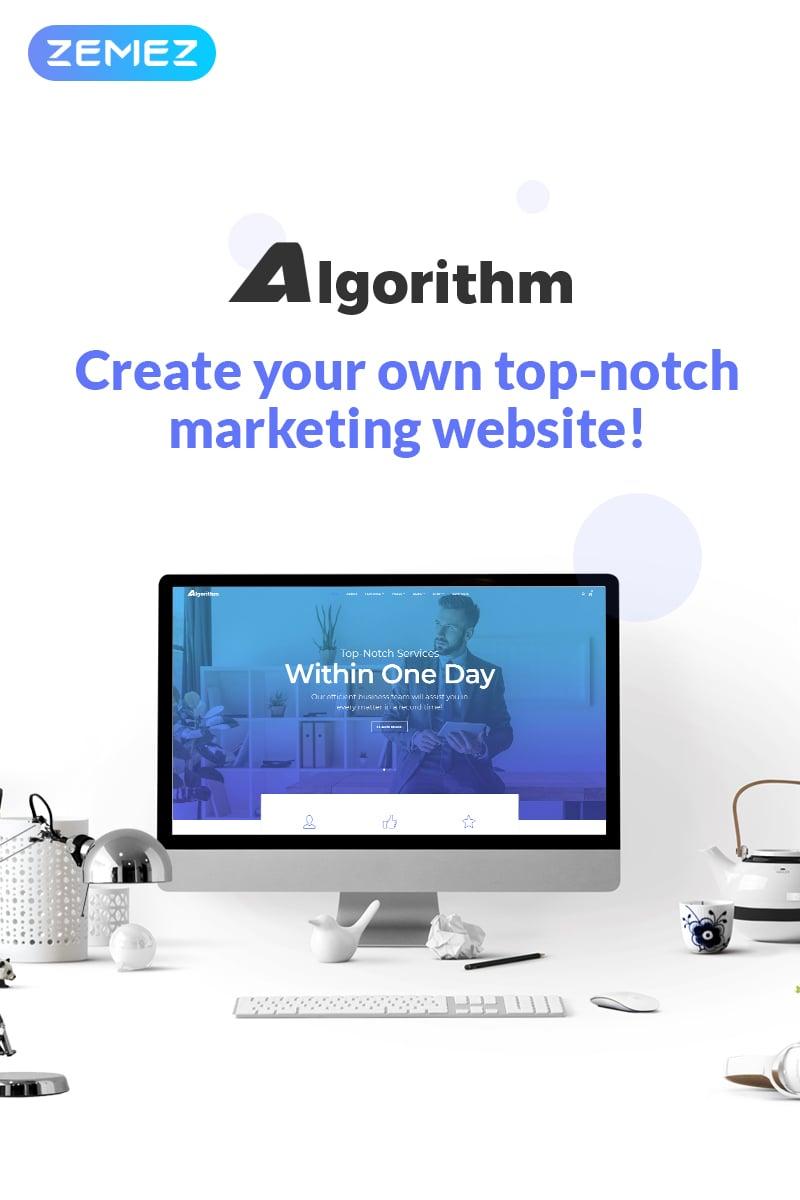 Reszponzív Algorithm - Business Marketing Elementor WordPress sablon 70111