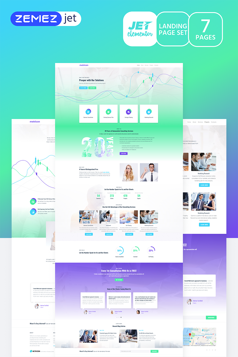"""Samplic - Corporate Business Jet"" Elementor Template №70187 - screenshot"