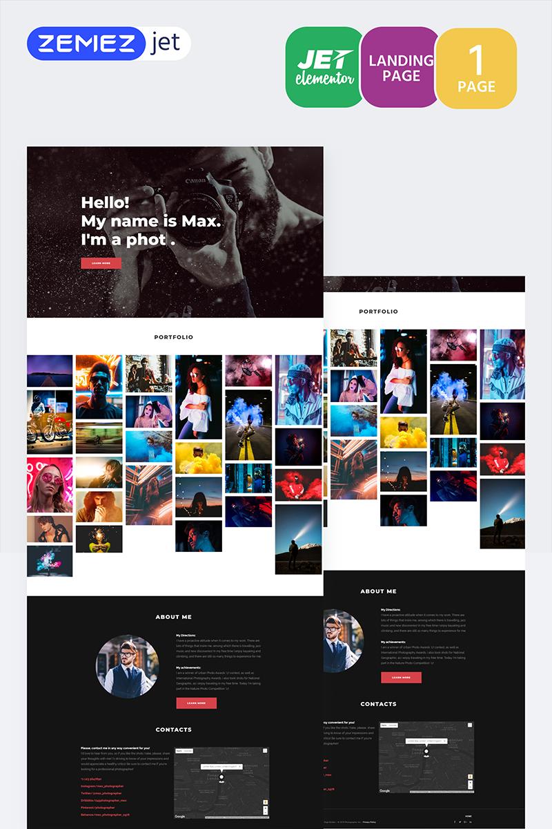 Shootex - Photographer Jet Elementor Template - screenshot