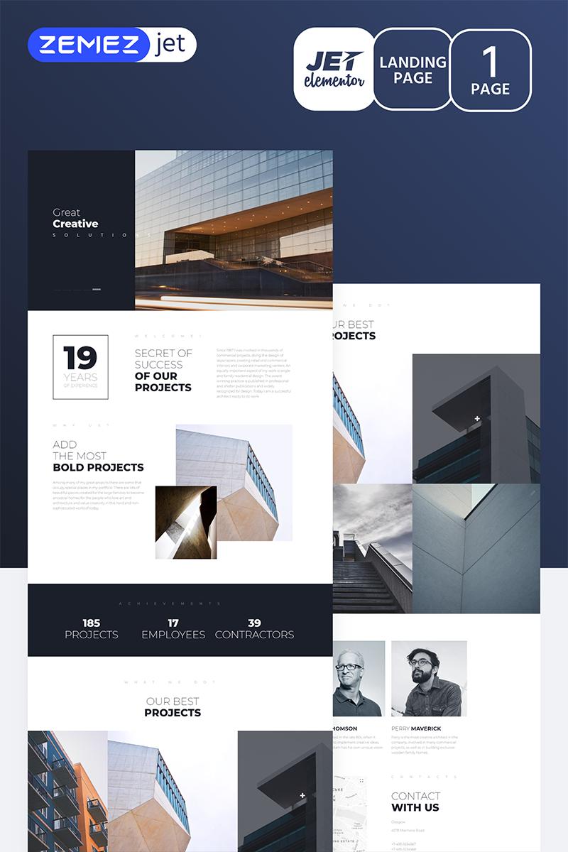 """Towercon - Architecture Jet"" - Elementor шаблон №70162"
