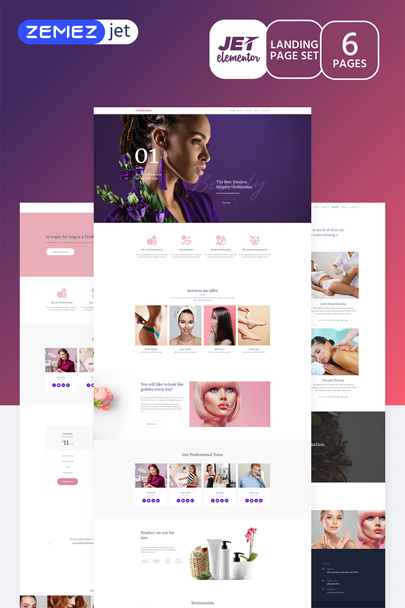Vallees - Spa Salon Jet Elementor Template