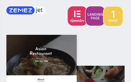 RedDragon - Asian Restaurant Elementor Kit