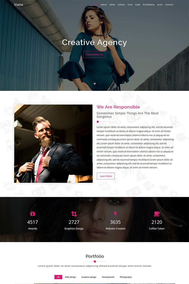 Website Design Template 70253 - black business company corporate multipurpose personal portfolio product showcase professional responsive