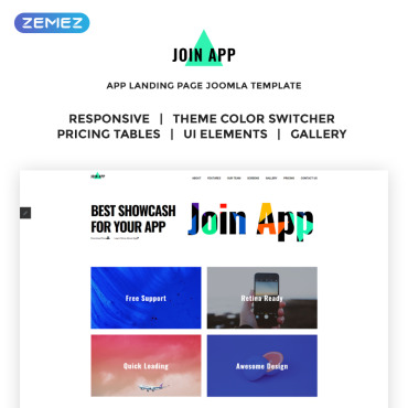 Preview image of Join App - App Landing Page
