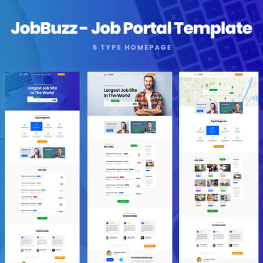 Preview image of JobBuzz - A Clean Job Board Website