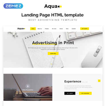 Preview image of Aqua - Advertising HTML5