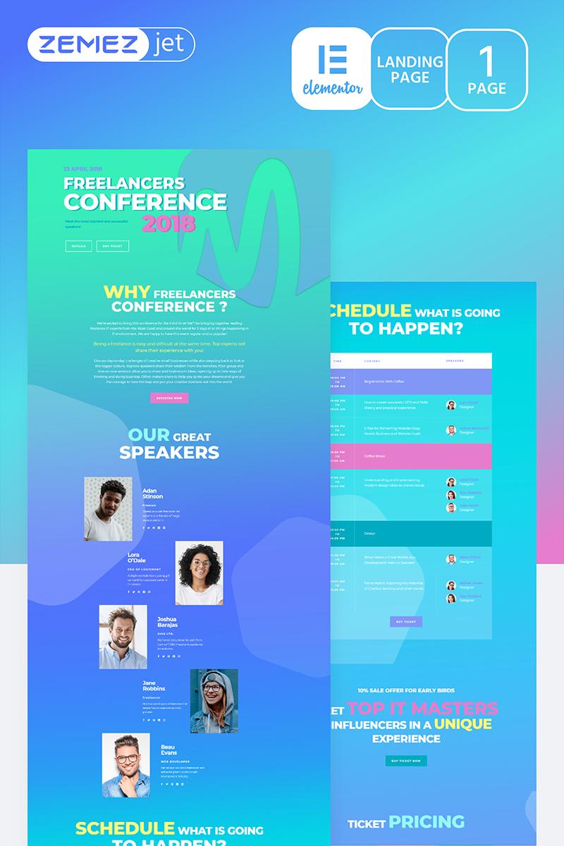 """Compasto - IT Conference"" modèle Elementor  #70203 - screenshot"