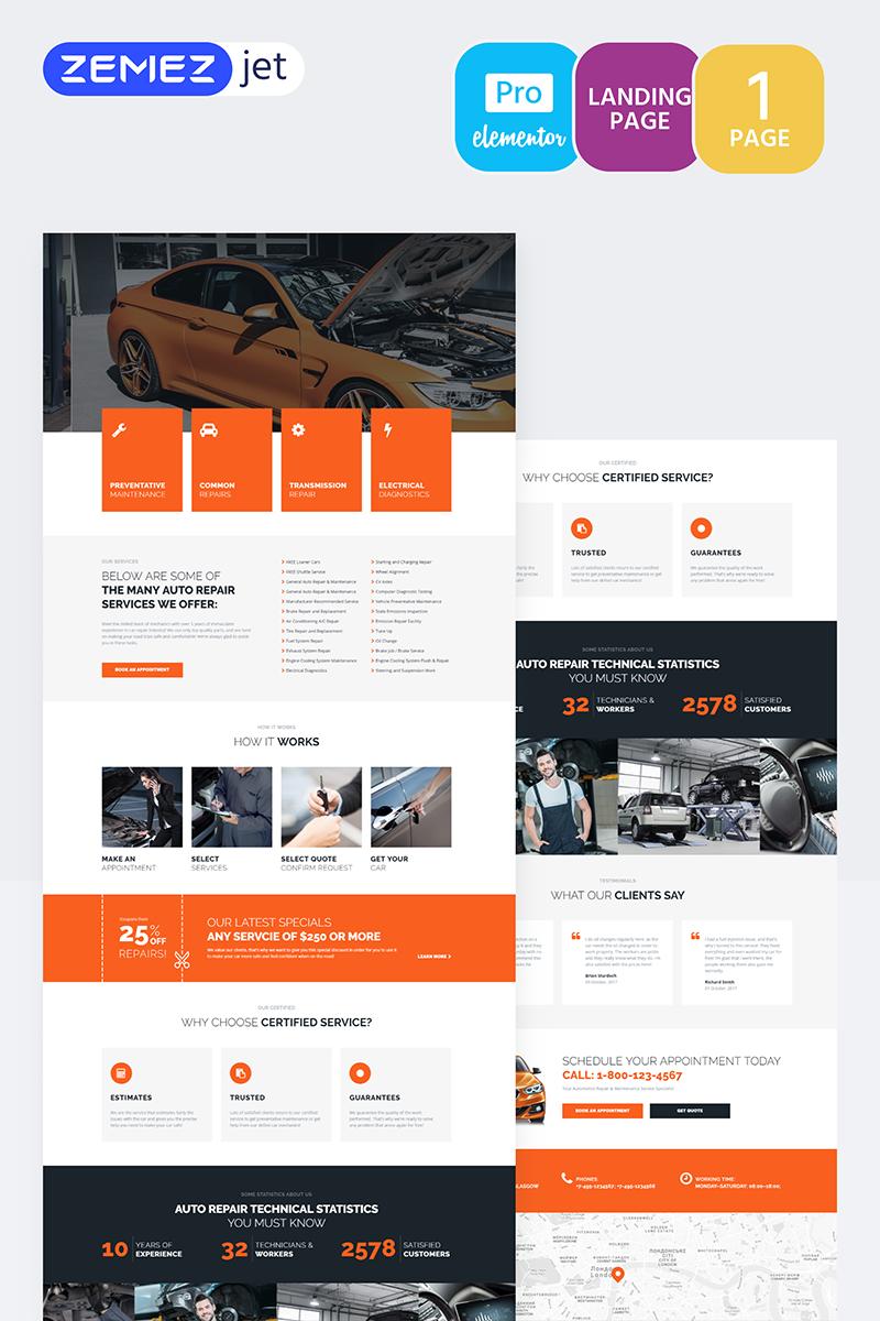 """""""Engirem - Car Repair Pro"""" Elementor Template №70273"""
