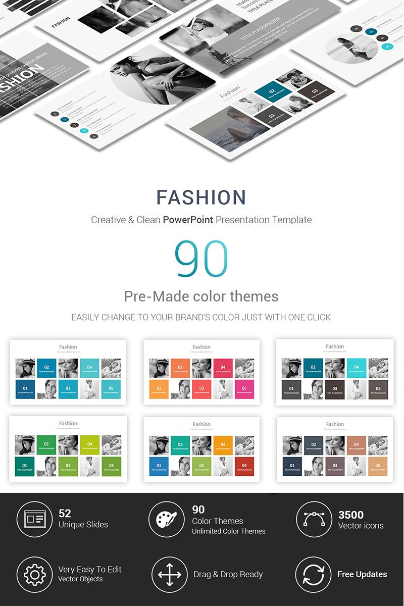 """Fashion Presentations"" modèle PowerPoint  #70288"