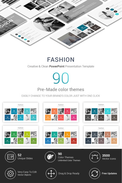 """Fashion Presentations"" - PowerPoint шаблон #70288"