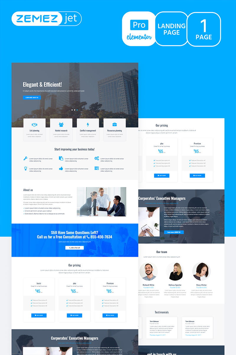 """Granbiz - Business Pro"" Elementor Template №70275"