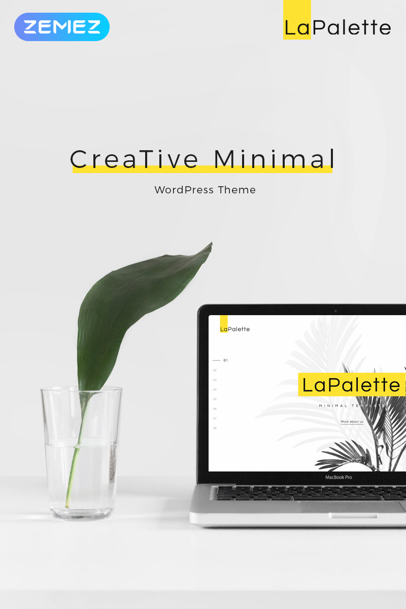 La Palette - Creative Minimal Elementor WordPress Theme - screenshot