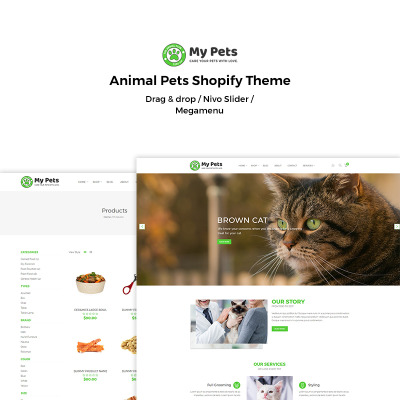 My Pets - Animal Pets Shopify Theme #70283