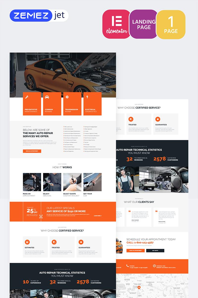 "Plantilla Elementor ""Engirem - Car Repair"" #70269"
