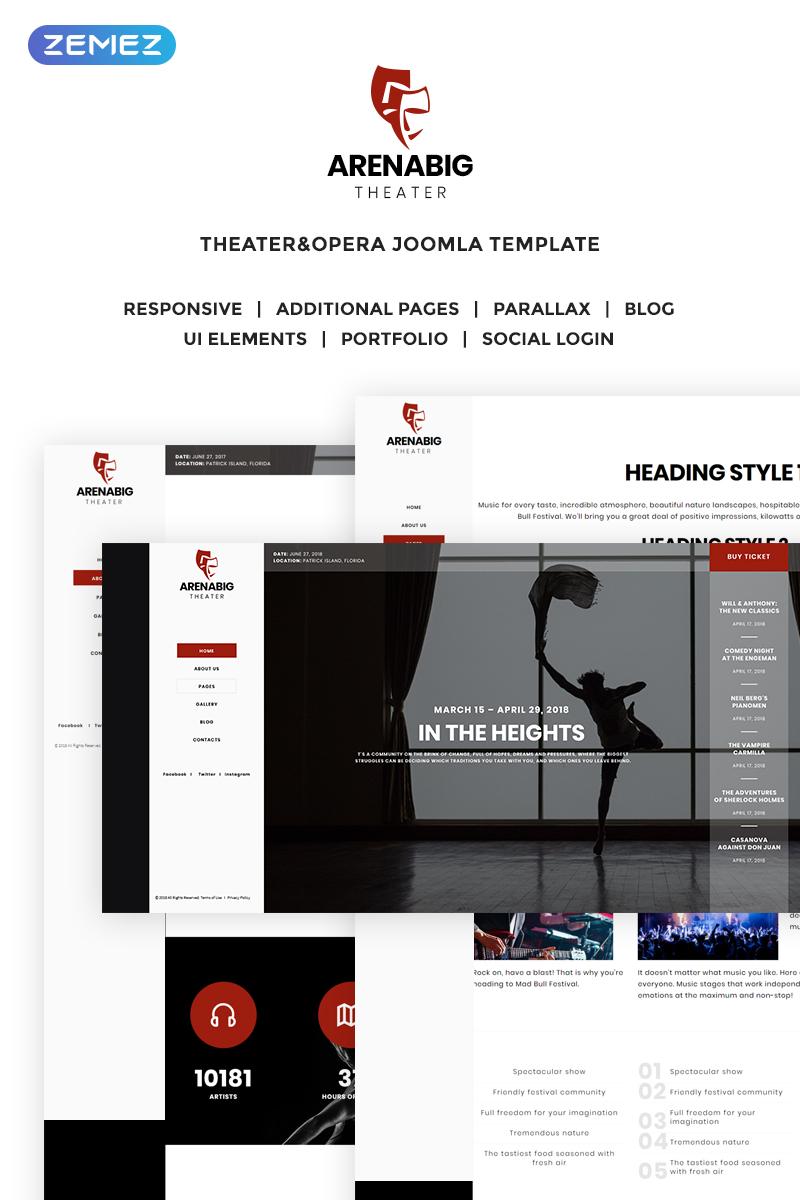 """Plantilla Joomla """"Arenabig Theater - Theater & Opera"""" #70284"""