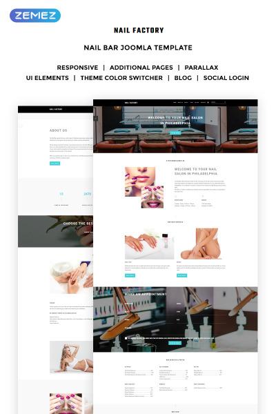 Responsive Plantilla Joomla #70220 para Sitio de  para Sitio de Salones de manicura
